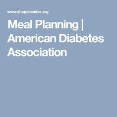 Meal Planning | American Diabetes Association