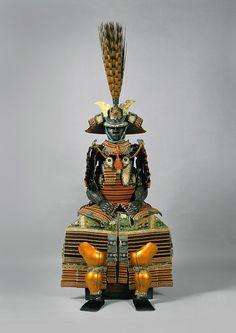 Lords of the SamuraiSuit of dōmaru gusoku–type armor, 1700–1732 Japan, Edo period (1615–1868) Iron, leather, lacquer, silk, and gilded metal Eisei-Bunko Museum, 4098 © Eisei Bunko, Japan.