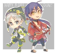 SinJa | Magi Noiz's and Koujaku's clothes | DMMD