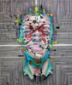 Glitchy Hand-Painted Portraits on www.inspiration-now.com
