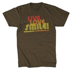Live, Love, & Smile in this tee!