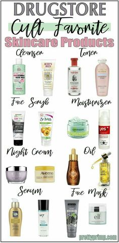The best drugstore skincare products that have reached cult status and perform as good as high end brands! skin care products 16 Holy Grail Drugstore Skincare Products You Need Maquillage Normal, Beste Mascara, Hair Care Brands, Def Not, Drugstore Skincare, Best Drugstore Products, Best Drugstore Moisturizer, Best Acne Products, Face Care Products