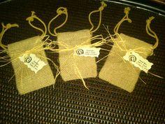 Burlap Bag with Custom Tag by CountryBarnBabe on Etsy, $18.00