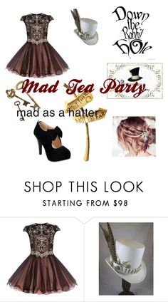 """Welcome To The Mad Tea Party~Mad Hatter"" by musiclizard ❤ liked on Polyvore"