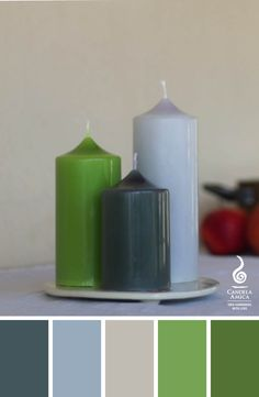 Handmade candles from our Simplify Your Life series... choose the colors you like and surround yourself with warm candle light!!