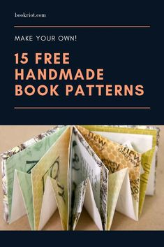 15 Free Handmade Book Patterns 15 Free Handmade Book Patterns Isabella Ullrich papiertante Paper / Quilling / etc. Make your own books with these 15 free handmade book patterns. Folded Book Art, Paper Book, Book Folding, Diy Folding Album, Cards Ideas, Cards Diy, Libros Pop-up, Homemade Books, Handmade Journals