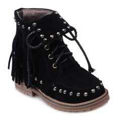 GET $50 NOW | Join RoseGal: Get YOUR $50 NOW!http://www.rosegal.com/boots/punk-rivet-and-fringe-design-647184.html?seid=6564316rg647184
