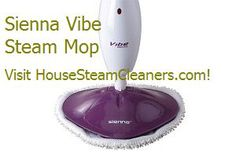 Sienna Vibe Steam Mop 1500 Watts - $59.99  Produces superheated steam and has been laboratory tested to kill 99.99% of E.coli, germs, bacteria, and dust mites. #Steam #and #mop your hard floors and carpets. Find out more!