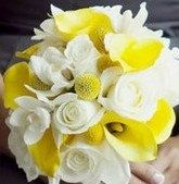 Real Touch Calla Lily Bridal Bouquet Choose by SilkFlowersByJean, $45.00