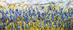 "72""x30"" Acrylic on Panel - Flora Series- Artist, Justin Gaffrey"