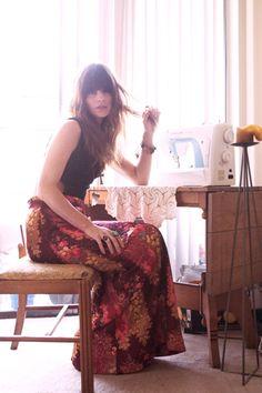 long print skirt
