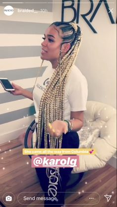 ❁ For More Hair Pins Like This Follow @Kebay A DIFFERENT TAKE ON THIS UPDO BRAIDED PONYTAIL HAIRSTYLE Braided Ponytail Hairstyles, Dope Hairstyles, Box Braids Hairstyles, Black Girl Braids, Braids For Black Hair, Girls Braids, Afro Hair Style, Curly Hair Styles, Natural Hair Styles