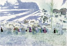"""""""Across the Fields,"""" c. 1898-1899, Édouard Vuillard"""