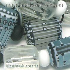 "Anastasia Lampwork Beads 7 ""Winterstorm"" SRA   eBay  http://www.ebay.com/itm/261136668324?ssPageName=STRK:MESELX:IT&_trksid=p3984.m1555.l2649"
