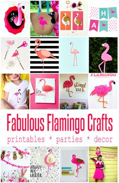 Cute Flamingo Crafts and Projects | Crafting in the Rain                                                                                                                                                     More