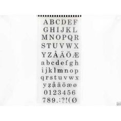 Clearstamps+YouDo+-+10x20cm+Alphabet+and+numbers
