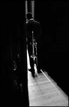 Waiting Trombonits. 1958. by Dennis Stock