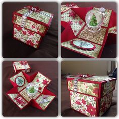 Christmas explosion box red green