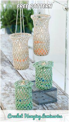 Crochet Hanging Luminaries Free Pattern