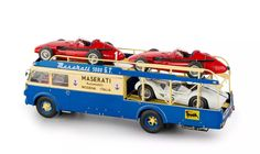 MASERATI RACE CAR TRANSPORTER FIAT 642 RN2 BARTOLETTI 1957 1/18