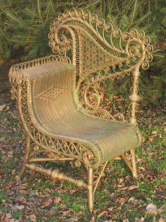Wicker was soon 'domesticated' in 19th century England, where its flexibility lent itself to curlicued Victorian style