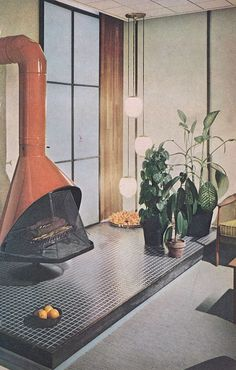 Better Homes  Gardens Decorating Book 1961 Fireplace