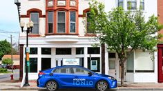 Hyundai partners with WaiveCar for free ad-supported EV car sharing Every automaker seems to be partnering up for car-sharing and Hyundai is no exception. The carmaker is teaming up with WaiveCar a startup offering ad-supported car sharing with a pilot program currently operating in Santa Monica. The team-up will see Hyundais first EV the IONIQ incorporated into WaiveCars fleet beginning in LA.  Hyundai is offering up the IONIQ to WaiveCar users for up to two hours per trip on-demand fo free…