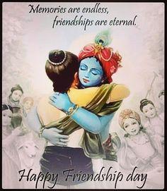 Such a beautiful painting.of how God holds us and loves us. Happy Friendship Day Photos, Friendship Day Wallpaper, Friendship Day Wishes, Friendship Images, Friendship Quotes, Happy Friendship Day Shayari, Cute Krishna, Krishna Art, Radhe Krishna