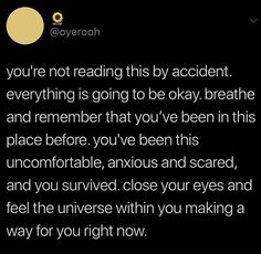 It's not an accident. everything happens for a reason. Quotes To Live By, Me Quotes, Motivational Quotes, Inspirational Quotes, Pretty Words, Beautiful Words, Deep, Note To Self, Self Help