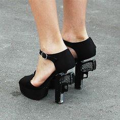 Chanel gun heels