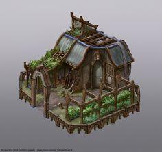 ArtStation - Spellforce 3 Elven buildings, Vladimir Krisetskiy