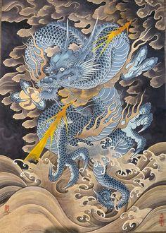 Japanese Art, Buddhist Art, Korean Art, Japanese Dragon, Dragon Sketch, Asian Tattoos, Dragon Art, Japanese Tattoo, Asian Dragon Tattoo