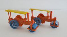 Steam Engine Steamroller Vintage Plastic Toy Set of 2 Miniature by LilBatsInTheAttic on Etsy
