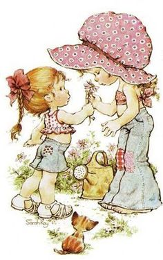 Cosy Home: Holly hobbie and Sarah kay Sarah Key, Holly Hobbie, Sweet Memories, Childhood Memories, Australian Artists, Cute Illustration, Vintage Cards, Cute Pictures, Nice Photos
