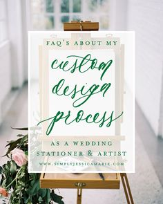When a potential SJM Bride first contacts me, or when I meet a new friend  or vendor and explain to them what I do as a custom wedding stationer and  artist, I often receive many of the same questions. So, I thought it would  be fun to share the most frequently asked questions about my custom design  process for custom wedding stationery here with y'all today, in case you  have been wondering the same thing!  photo by abigail malone photography  DO YOU HAND PAINT EACH INVITATION?  That is…
