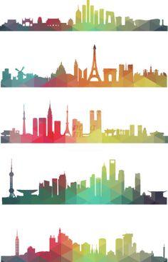 Colorful City Pattern