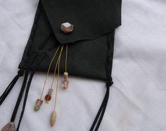 Leather festival bag pouch - handmade Boho style OOAK - Edit Listing - Etsy Leather Festival Bags, Boho Style, Fashion Backpack, Boho Fashion, Pouch, Stone, Handmade, Etsy, Rock