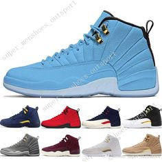 c81cd8490db7 Wholesale cheap basketball shoes color -12 12s men basketball shoes  michigan bulls college navy unc nyc vachetta tan wheat dark grey bordeaux  wings the ...