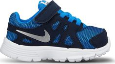 Nike Revoltion 2 TDV no.555084-417 (3 M US Toddler, PHOTO BLUE/OBSIDIAN/WHITE/METALLIC SILVER) * Quickly view this special  product, click the image : Basketball shoes