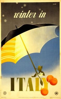 Posters Vintage Winter In Italy Italian Travel Tourism Poster Re-Print Vintage Italian Posters, Pub Vintage, Vintage Travel Posters, Vintage Italy, Vintage Winter, Italy Winter, Sestri Levante, Illustrations Vintage, Tourism Poster