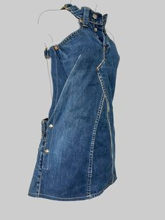 jeans dress 'dokjurk', loose fit, A-line shape - DIY Clothes Sweater Ideen Outfit Jeans, Jeans Dress, Kleidung Design, Mode Hippie, Levi Strauss Jeans, Mode Shoes, Old Jeans, Denim Jeans, Recycled Denim