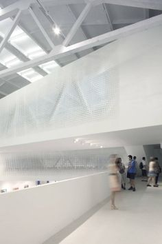 Image 9 of 16 from gallery of Yue Art Gallery / Tao Lei Architect Studio. Courtesy of tao lei architect studio Cultural Architecture, Space Architecture, Contemporary Architecture, Architecture Details, Minimal Architecture, Building Architecture, Arch Interior, Space Interiors, Modern Buildings
