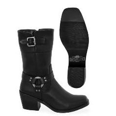 Milwaukee Carma Classic Harness Motorcycle Boots for Women - Jafrum Motorcycle Riding Boots, Motorcycle Wear, Riding Gear, Biker Gear, Biker Chick, Fashion Boots, Rubber Rain Boots, Me Too Shoes, Shoe Boots
