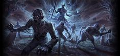 Armies of revenants and dark spirits