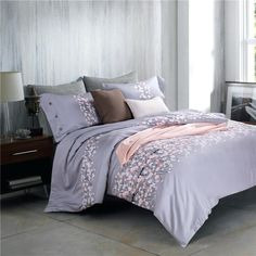 Dreaming purple round bed home bedding 4pcs sets sweety lace wedding