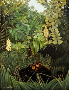 Naive Art, Oil On Canvas, Post Impressionist, Jesters Henri Rousseau. Tableaux Vivants, Art Français, Jungle Art, Philadelphia Museum Of Art, Art Et Illustration, Art Moderne, Naive Art, French Art, Art Reproductions