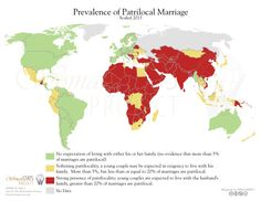 Patrilocal marriage across the world