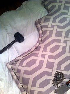 DIY Upholstered Headboard - add a personalized touch to that boring dorm bed