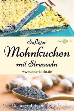 omas-saftiger-mohnkuchen-mit-streuseln-oma-kocht/ - The world's most private search engine Keto Recipes, Cake Recipes, Poppy Seed Cake, Deviled Eggs Recipe, New Fruit, Cake Tasting, Pudding Cake, Evening Meals, Food Cakes