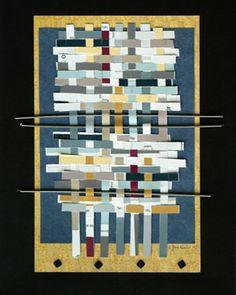 Ellen Jackson Art | Woven Paper Structures | Integrating Weaving & Art - Tapestries